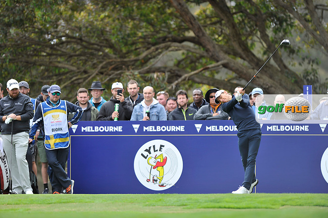 Joakim Lagergren (SWE) during the 3rd round of the World Cup of Golf, The Metropolitan Golf Club, The Metropolitan Golf Club, Victoria, Australia. 24/11/2018<br /> Picture: Golffile | Anthony Powter<br /> <br /> <br /> All photo usage must carry mandatory copyright credit (© Golffile | Anthony Powter)