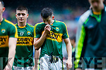 Adam Donoghue Kerry players after defeating Cavan in the All Ireland Minor Semi Final in Croke Park on Sunday.
