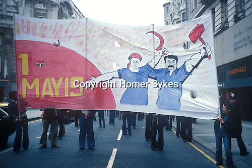 May Day march through central London 1977.