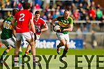 Kieran Donaghy Kerry in action against Fintan Goold Cork in the National Football League at Pairc Ui Rinn, Cork on Sunday.