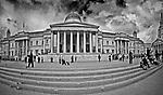 Londyn, 2009-03-05. Budynek Galerii Narodowej (National Gallery) na Trafalgar Square Londynie