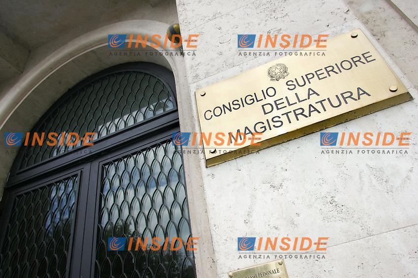 Roma 26/07/2010 Sede del CSM, Consiglio Superiore della Magistratura.<br /> Photo Samantha Zucchi Insidefoto
