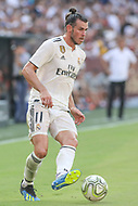 Landover, MD - August 4, 2018: Real Madrid forward Gareth Bale (11) makes a pass during the match between Juventus and Real Madrid at FedEx Field in Landover, MD.   (Photo by Elliott Brown/Media Images International)