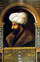Hagia Sophia:  Sultan Mohammed II, Conqueror of Constantinople, 1453.  Portrait by Gentile Bellini, painted in 1480.