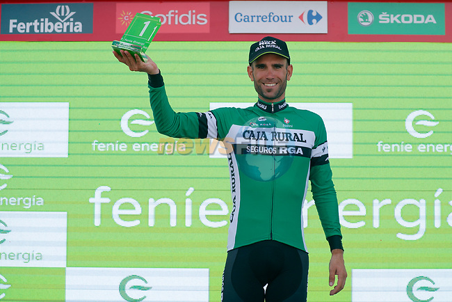 Luis Guillermo Mas Bonet (ESP) Caja Rural-Seguros RGA wins the days combativity award at the end of Stage 9 of the La Vuelta 2018, running 200.8km from Talavera de la Reina to La Covatilla, Spain. 2nd September 2018.<br /> Picture: Unipublic/Photogomezsport | Cyclefile<br /> <br /> <br /> All photos usage must carry mandatory copyright credit (© Cyclefile | Unipublic/Photogomezsport)