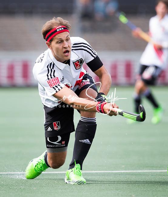 AMSTELVEEN - Justin Reid-Ross van A'dam  tijdens   de competitiewedstrijd tussen de heren van Amsterdam en Den Bosch (6-3).  COPYRIGHT KOEN SUYK