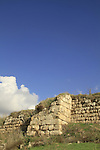 Israel, Shephelah, ruins of the Crusader fortress Castellum Arnoldi on Tel Ayalon