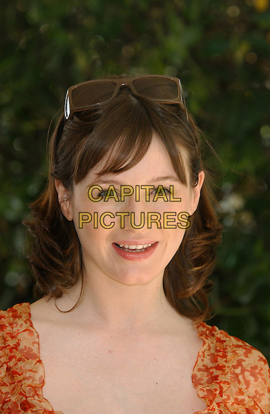 "EMILY MORTIMER.""Young Adam"".Cannes Film Festival 2003.www.capitalpictures.com.sales@capitalpictures.com.©Capital Pictures.sunglasses on head"