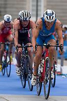Krystian Blummenfelt of Norway during the 2017 Madrid ITU Triathlon World Cup in Madrid, May 28, 2017. Spain.. (ALTERPHOTOS/Rodrigo Jimenez) /NortePhoto.com