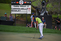 Rafael Cabrera Bello (ESP) sinks his putt on 18 during round 4 of the Arnold Palmer Invitational at Bay Hill Golf Club, Bay Hill, Florida. 3/10/2019.<br /> Picture: Golffile | Ken Murray<br /> <br /> <br /> All photo usage must carry mandatory copyright credit (© Golffile | Ken Murray)