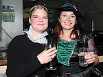 Clara Stack and Gillian Fallon pictured at Rowan Wilkinson's 30th birthday in the Star and Crescent. Photo: www.pressphotos.ie