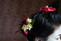 Miki Suzuki dresses in a Geisha costume in preparation for a performance at the annual Arts Festival in Edinburgh, Scotland on Aug. 10, 2007. The Festival features hundreds of international theater and music performances and attracts street performers from all over the world..