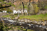 Traditional stone farmhouse at Glenridding, Lake District, Cumbria, England, UK