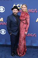 15 April 2018 - Las Vegas, NV - Sugarland, Jennifer Nettles, Kristian Bush.  2018 ACM Awards arrivals at MGM Grand Garden Arena. <br /> CAP/ADM/MJT<br /> &copy; MJT/ADM/Capital Pictures