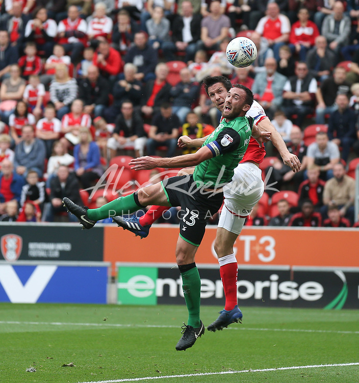 Rotherham United VS Scunthorpe United, New York Stadium Rotherham, Saturday 14th October 2017 <br /> <br /> <br /> Picture - Alex Roebuck / www.alexroebuck.co.uk
