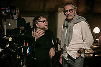 The Shape of Water (2017) <br /> Behind the scenes photo of Guillermo del Toro &amp; Dan Laustsen  <br /> *Filmstill - Editorial Use Only*<br /> CAP/MFS<br /> Image supplied by Capital Pictures