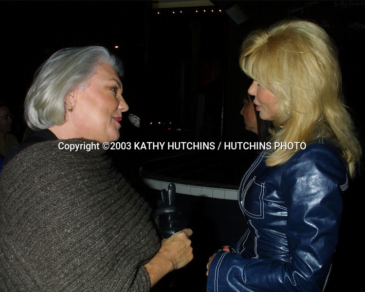 ©2003 KATHY HUTCHINS / HUTCHINS PHOTO.SMOTHERS BROTHERS PERFORMING .AT  THE COMEDY STORE.W HOLLYWOOD, CA.NOVEMBER 18, 2003..TYNE DALY.LONI ANDERSON