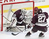 Bruce Racine (Colgate - 33), Tyler Moy (Harvard - 2), Mike Panowyk (Colgate - 27) -  - The Harvard University Crimson defeated the visiting Colgate University Raiders 7-4 (EN) on Saturday, February 20, 2016, at Bright-Landry Hockey Center in Boston, Massachusetts.