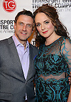 Raul Esparza and Melissa Errico attend the Transport Group Theatre Company 'A Toast to the Artist - An Evening with Mary-Mitchell Campbell & Friends'  at The The Times Center on February 6, 2017 in New York City.