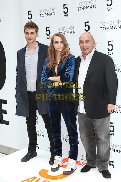 NEW YORK - November 5:  Max Irons, Cara Delevingne and Sir Philip Green attend the Topshop Topman New York City Flagship Grand Opening on November 5, 2014 in New York City. <br /> CAP/MPI/MPI99<br /> &copy;MPI99/MPI/Capital Pictures