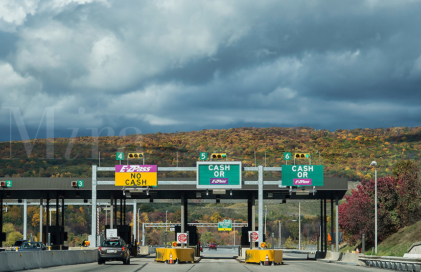 E-Z Pass toll both, Pennsylvania, USA