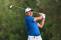 Andres Romero (ARG) on the 4th tee during Round 1 of the Omega Dubai Desert Classic, Emirates Golf Club, Dubai,  United Arab Emirates. 24/01/2019<br /> Picture: Golffile | Thos Caffrey<br /> <br /> <br /> All photo usage must carry mandatory copyright credit (&copy; Golffile | Thos Caffrey)