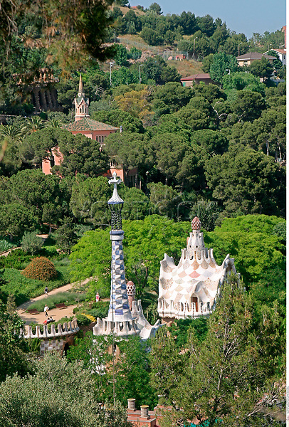 DIG, geography / travel, Spain, Parc Guell by Gaudi, <br /> Barcelona,