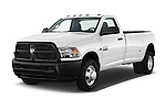 2016 Ram Ram-3500-Pickup Tradesman-Regular-cab 4 Door Pick-up Angular Front stock photos of front three quarter view