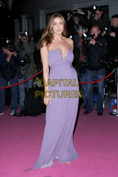 LISA SNOWDON.The Breast Cancer Care 2008 Fashion Show, London, England..October 1st, 2008 .full length purple dress strapless .CAP/AH.©Adam Houghton/Capital Pictures.