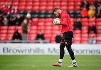 Lincoln City's Grant Smith during the pre-match warm-up<br /> <br /> Photographer Chris Vaughan/CameraSport<br /> <br /> The EFL Sky Bet League Two - Lincoln City v Port Vale - Tuesday 1st January 2019 - Sincil Bank - Lincoln<br /> <br /> World Copyright &copy; 2019 CameraSport. All rights reserved. 43 Linden Ave. Countesthorpe. Leicester. England. LE8 5PG - Tel: +44 (0) 116 277 4147 - admin@camerasport.com - www.camerasport.com