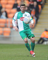 Plymouth Argyle's Graham Carey<br /> <br /> Photographer Kevin Barnes/CameraSport<br /> <br /> The EFL Sky Bet League One - Blackpool v Plymouth Argyle - Saturday 30th March 2019 - Bloomfield Road - Blackpool<br /> <br /> World Copyright © 2019 CameraSport. All rights reserved. 43 Linden Ave. Countesthorpe. Leicester. England. LE8 5PG - Tel: +44 (0) 116 277 4147 - admin@camerasport.com - www.camerasport.com