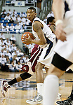March 1, 2012: Nevada Wolf Pack forward Devonte Elliott looks to  pass agianst the New Mexico State Aggies during their NCAA basketball game played at Lawlor Events Center on Thursday night in Reno, Nevada.