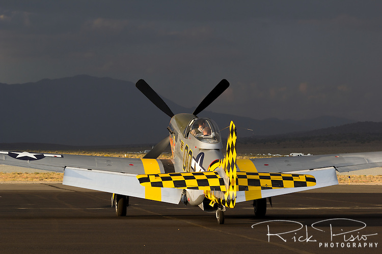 P-51 Mustang on the ramp at Stead Field in Nevada