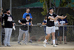 POWAY, CA - JULY 16:  Quarterback Philip Rivers of the San Diego Chargers coaches at 3rd base for his team the &quot;Valley Farm League&quot;  during their semi-final game in the Regular Joe League at the Poway Sportsplex Softball Field on July 16, 2014 in Poway, California. (CREDIT: Donald Miralle for the Wall Street Journal) <br /> chargers