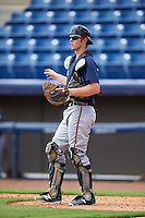Atlanta Braves catcher Alan Crowley (57) during an Instructional League game against the Washington Nationals on September 30, 2016 at Space Coast Stadium in Melbourne, Florida.  (Mike Janes/Four Seam Images)