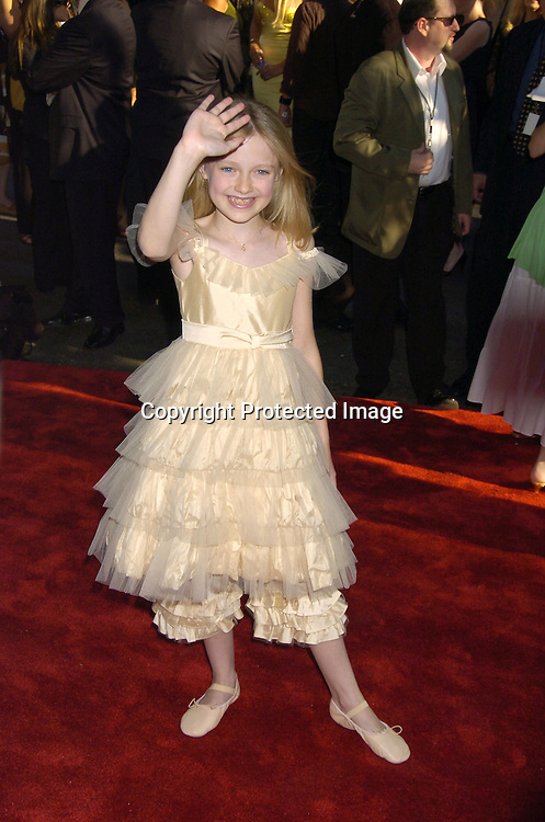 "Dakota Fanning ..at The US Premiere of ""War of the Worlds"" on June 23, 2005 at the Ziegfeld Theatre. ..Photo by Robin Platzer, Twin Images"