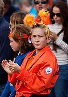 15-09-12, Netherlands, Amsterdam, Tennis, Daviscup Netherlands-Suisse, Doubles, Dutch supporter