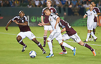 CARSON, CA – September 9, 2011: Colorado Rapid defender Marvell Wynne (22) and LA Galaxy forward Paolo Cardozo (30) during the match between LA Galaxy and Colorado Rapids at the Home Depot Center in Carson, California. Final score LA Galaxy 1, Colorado Rapids 0.