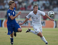 Nick Palodichuk. Italy defeated the US Under-17 Men's National Team 2-1 in Kaduna, Nigera on November 4th, 2009.