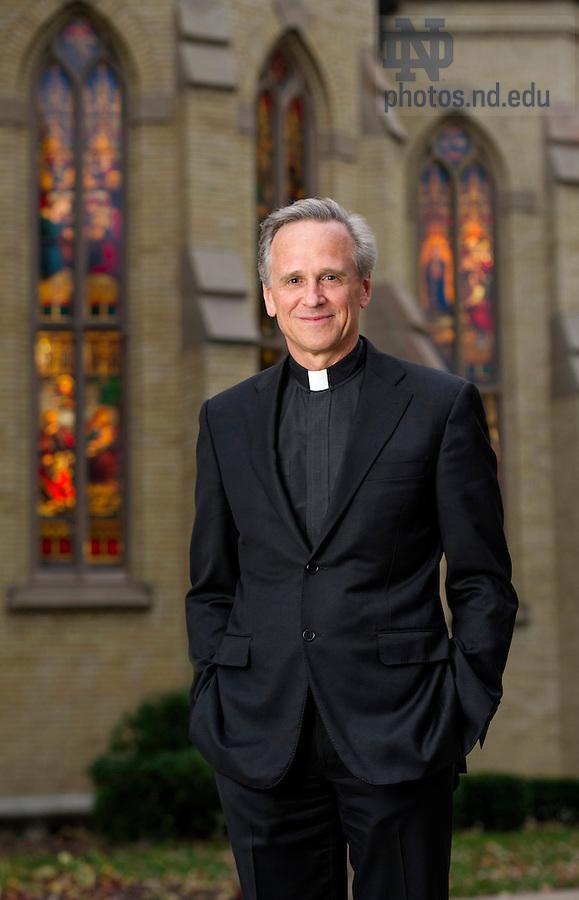Oct. 27, 2014; University of Notre Dame President Rev. John I. Jenkins, C.S.C., - 2014 Annual Report. (Photo by Barbara Johnston/University of Notre Dame)