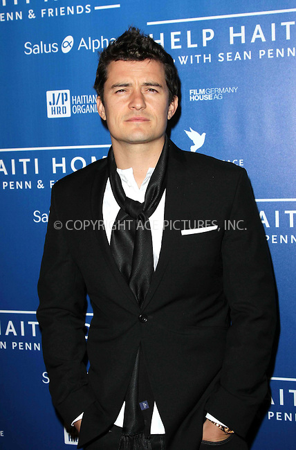 WWW.ACEPIXS.COM . . . . .  ..... . . . . US SALES ONLY . . . . .....January 14 2012, LA....Orlando Bloom at the Cinema for Peace event benefiting the J/P Haitian Relief Organization held at Montage on January 14 2012 in Los Angeles....Please byline: FAMOUS-ACE PICTURES... . . . .  ....Ace Pictures, Inc:  ..Tel: (212) 243-8787..e-mail: info@acepixs.com..web: http://www.acepixs.com