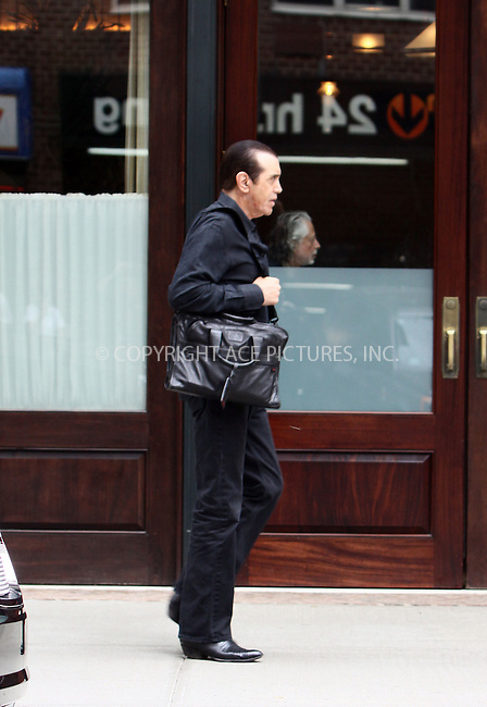 WWW.ACEPIXS.COM . . . . . ....June 23 2011, New York City....Actor Chazz Palminteri leaving a downtown hotel on June 23 2011 in New York City ....Please byline: CURTIS MEANS - ACE PICTURES.... *** ***..Ace Pictures, Inc:  ..Philip Vaughan (212) 243-8787 or (646) 679 0430..e-mail: info@acepixs.com..web: http://www.acepixs.com