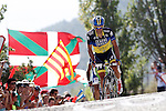 Alberto Contador arrives to the finish in fourth position of the stage of La Vuelta 2012 between Tarazona and Jaca.August 23,2012. (ALTERPHOTOS/Acero)