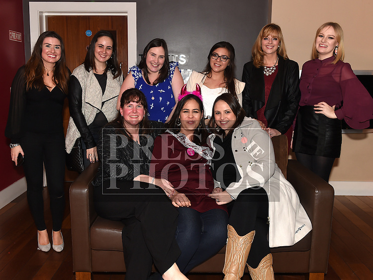 Chantal Watts on her hen night with all her friends. Photo:Colin Bell/pressphotos.ie