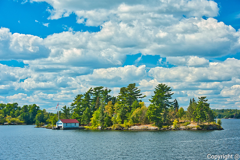 Boathouses on Lake of the Woods<br />Kenora<br />Ontario<br />Canada