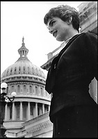 BNPS.co.uk (01202 558833)<br /> Pic: Bonhams/BNPS<br /> <br /> Jackie on Capitol Hill.<br /> <br /> Fascinating photographs of the Kennedys during their first year of marriage have emerged for auction.<br /> <br /> The intimate snaps of the future US president and his wife Jackie were taken by renowned photographer Orlando Suero who spent five days with the couple at their Georgetown home in May 1954.<br /> <br /> At the time, Kennedy was a young senator from Massachusetts establishing himself as one to watch on the US political scene.<br /> <br /> The collection's owner, Max Lowenherz, donated the bulk of the photographs and negatives to the Peabody Institute of Johns Hopkins University in Maryland, USA.<br /> <br /> He has now decided to put 31 of them up for auction and they are tipped to sell for &pound;4,900 ($6,000).