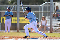 Maine Black Bears infielder Alex Calbick (34) at bat during a game against the South Dakota State JackRabbits at South County Regional Park on March 9, 2014 in Port Charlotte, Florida.  Maine defeated South Dakota 5-4.  (Mike Janes/Four Seam Images)