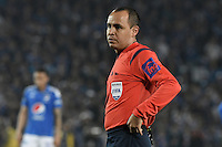 BOGOTA - COLOMBIA -27 -11-2016: Luis Sanchez, árbitro, durante el encuentro de ida entre Millonarios y Atlético Nacional por los cuartos de final de la Liga Aguila II 2016 jugado en el estadio Nemesio Camacho El Campin de la ciudad de Bogota. / Mario Herrera, referee, during first leg match between Millonarios and Atletico Nacional for the final quarters of the Liga Aguila II 2016 played at the Nemesio Camacho El Campin Stadium in Bogota city. Photo: VizzorImage / Gabriel Aponte / Staff.