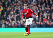 9th February 2019, Craven Cottage, London, England; EPL Premier League football, Fulham versus Manchester United; Luke Shaw of Manchester United in action