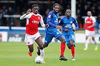 Jordy Hiwula of Fleetwood Town in action during the Sky Bet League 1 match between Peterborough and Fleetwood Town at London Road, Peterborough, England on 28 April 2018. Photo by Carlton Myrie.